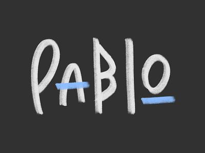 Pablo Logo artist illustration lettering lettering logo brush brand typography logotype logo
