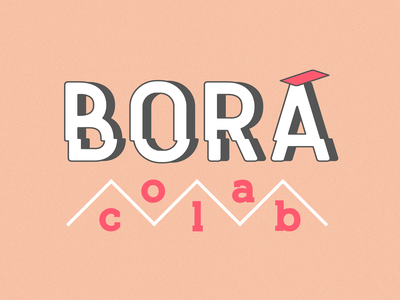 Borá Colab vector creativity creative design collab collaborative logotype logo branding brand