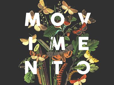 Movement art movement typography botanical illustration print printing collageart collage