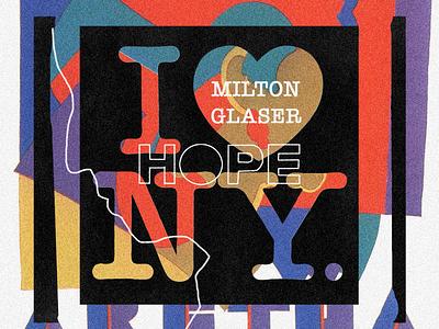 Milton Glaser Collage grain nyc tribute milton glaser paper art print collage collageart artwork
