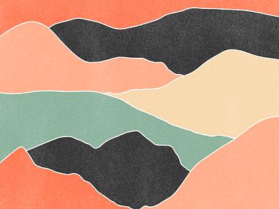 Mountains minimalist mountains print design digital illustration artwork colors illustration art