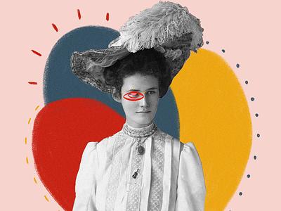 Lady eye artwork surreal print art illustration digital illustration collage