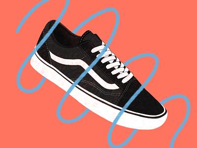 Vans Illustration shoe digital art vans artwork art