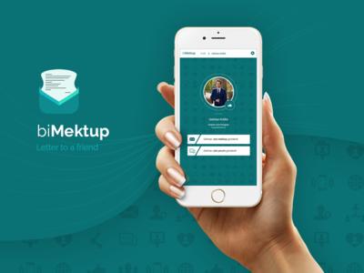 biMektup mobile app design mobile psd friends app desing mobile app