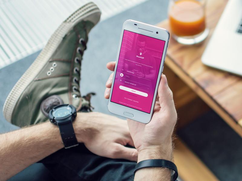 StartUP! App Login Screen mobile mobile app design free app login screen free app design app design