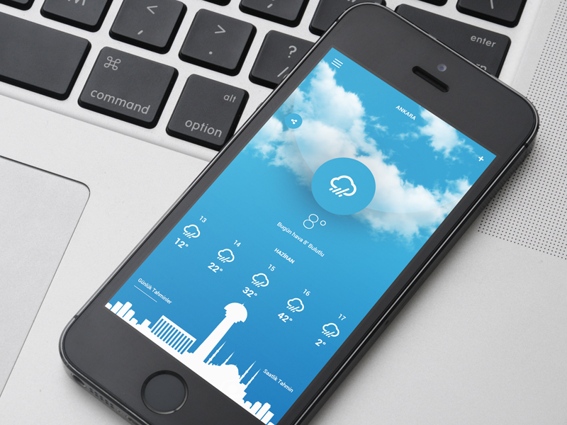 Weather Mobile App Design mobile app design ux ui weather app design weather mobile app