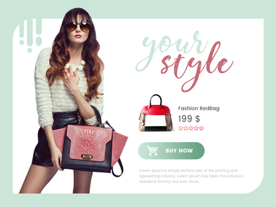 Your Style Shopping Modal ux ui modal web interface shopping
