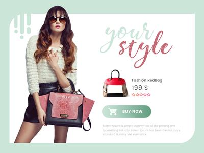 Your Style Shopping Modal ux ui modal web interface shopping