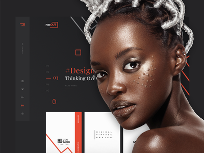 Nexout - Creative PSD Template ui template design web web interface design psd design psd portfolio design themeforest portfolio design web design