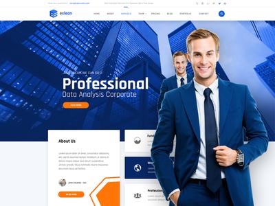 Exleon - Creative Multi-Purpose PSD psd template psd portfolio multipurpose modern elegant creative corporate consulting construct clean business blog
