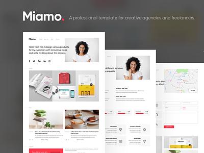 Miamo - A professional template white sketch portfolio sketch blog portfolio personal person minimalistic designer creative clean blogger agency agencies