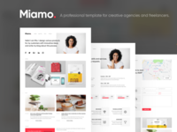 Miamo - A professional template white sketch portfolio sketch blog portfolio personal person minimalistic designer creative clean blogger agency agencies