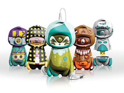 Mugo graphicdesign productdesign mp3 technology characters music art illustration toy usb