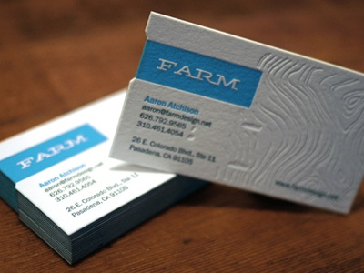 Business Card graphicdesign businesscards emboss letterpress blue design identity logo designstudio