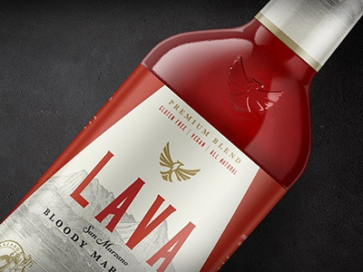 LAVA farm design logo emboss label beverage cocktail