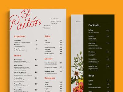 El Pailón restaurant branding typography branding layout illustration graphic design design