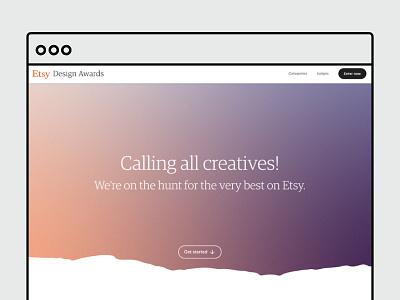 Etsy Design Awards ecommerce brand design typography ui ux design graphic design branding