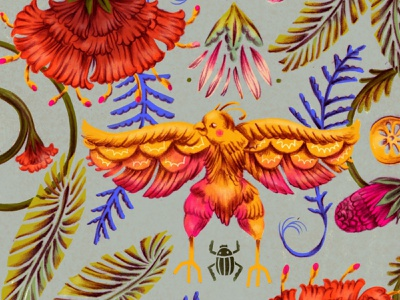Pattern digital illustration digital mixed media design illustration