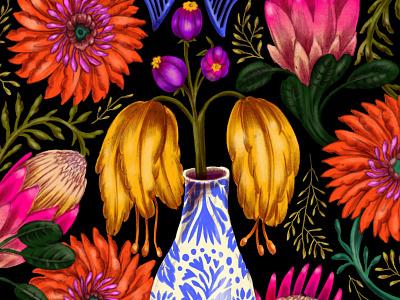 Floral Illustration floral art floral digital mixed media design illustrations illustration