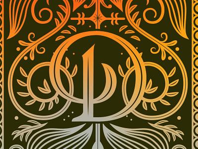 D Monogram Lettering design typedesign monogram typography type lettering