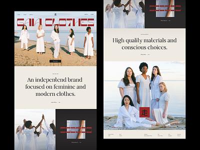 gaia landing page hero elegant modern minimal clean people typography photo women shop clothes landing ecommerce ux design ui design