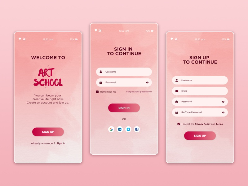 Daily UI  #001  - Sign Up form sign in sign up mobile dailyui 001 dailyuichallenge challenge dailyui concept design ui daily