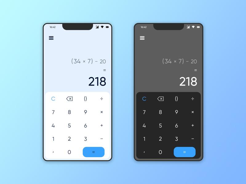 Daily UI #004 - Calculator app ui design dailyuichallenge dailyui 004 dailyui daily concept challenge