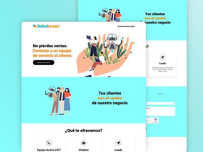 Chatbot Sales one page figma design ui  ux designer websites landing page website design