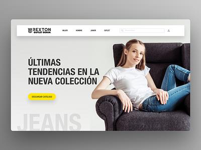 Homepage Jeans jeans ui design home page homepage design landing page landing page design freelance ui figma figma design