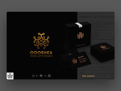 Logo Design Oooshka - Industrial Living living industrial textile photoshop illustrator creative logo jewelry logo design