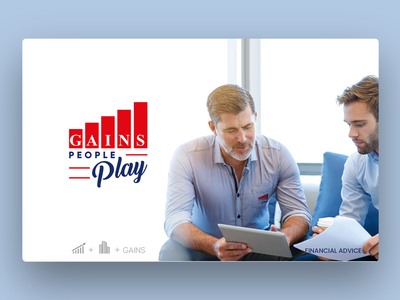 Logo Design Gains People Play - Financial Advice logo business advice financial photoshop illustrator logo design