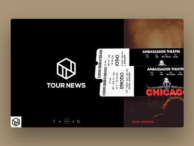 Logo Design Tour News logo build music concert tour photoshop illustrator logo design