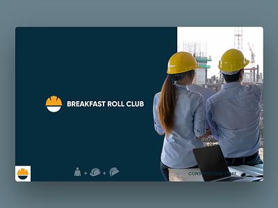Logo Design Breakfast Roll Club - Construction Staff logo business photoshop illustrator breakfast logo construction logo design