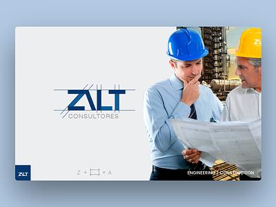 Logo Design Zalt Consultores - Engineering & Construction. logo concept photoshop illustrator engineering logo business logo construction logo design