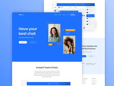 Homepage Design - Chat App creative design freelance web design figma design interaction design ui  ux
