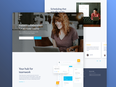 Homepage Design - Team App creative design freelance team work figma figma design ui  ux homepage web design