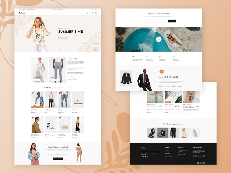 Ankon - eCommerce Template online shop ui ux fashion shop ecommerce website design