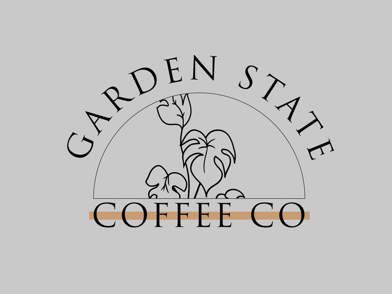 Garden State Coffee Co. company logo custom illustration company design branding logo