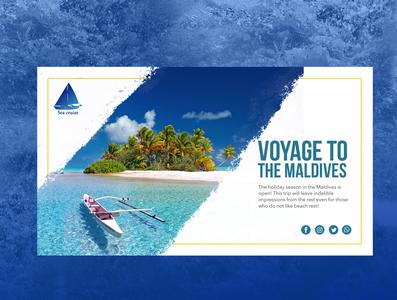 Banner design for tourism web design