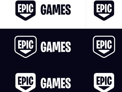 Epic Games Logo Redesign Concept logo design rebrand logo design concept redesign branding