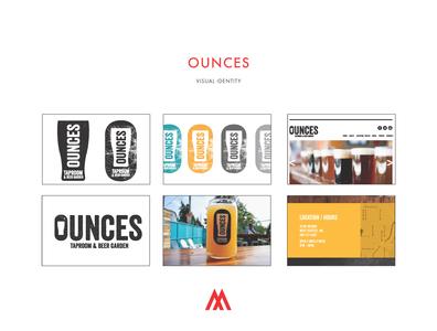 Ounces Tap House Branding