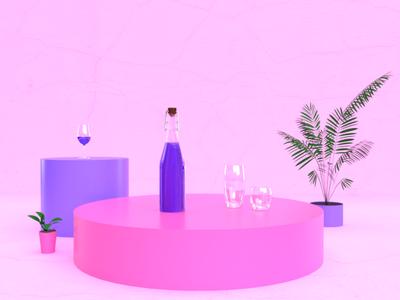 Grape Juice purple juice grape adobe dimension render 3d