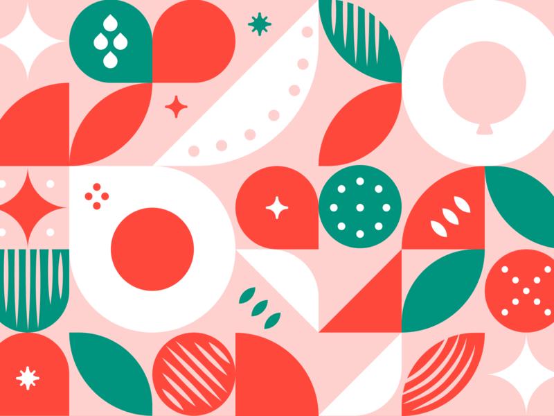 Happy Happy Holiday Money circles grid structuralism shapes seasonal xmas christmas holiday