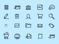 More custom icons for PaySimple