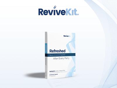 ReviveKit Supplement Branding Package Design design supplement fda approved pills supplement label design supplements package mockup package design