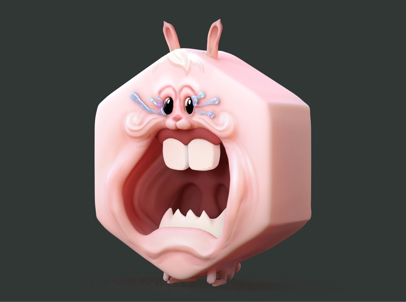 RABBIT - The Little Devil TOYS cute chibi art angry 3d illustration game concept character toy
