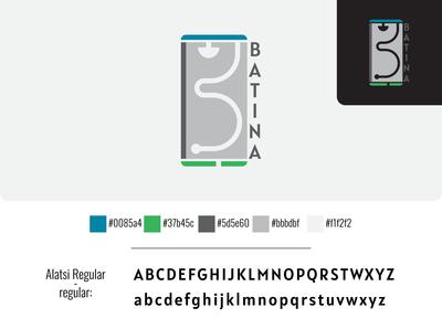 BATINA logo branding identity branding vector illustrator cc design