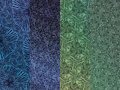 Pack_mosaïque_4 wall art pattern mosaic illustration design
