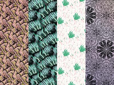 Pack_mosaïque_3 wall art mosaic pattern illustration design