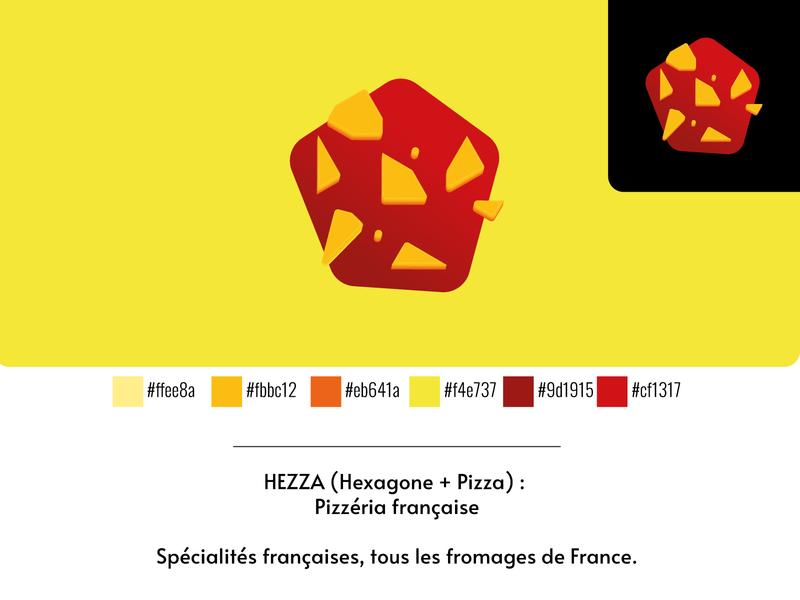 HEZZA Pizzeria illustrator cc concept branding design vector logo